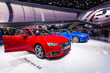 FRANKFURT - SEPT 23: Audi A4 2.0 T quattro shown at the 66th IAA on September 23, 2015 in Frankfurt, Germany.