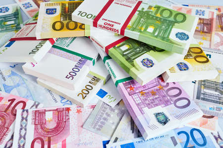 paying: Euro Money. euro cash background. Euro Money Banknotes