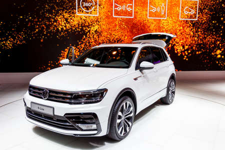 FRANKFURT, GERMANY - SEPTEMBER 23, 2015: Volkswagen Tiguan R-Line presented on the 66th International Motor Show