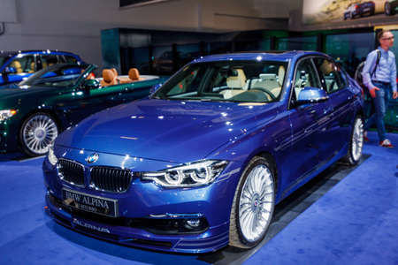 sportcar: FRANKFURT, GERMANY - SEPTEMBER 23, 2015:  BMW ALPINA presented on the 66th International Motor Show Editorial