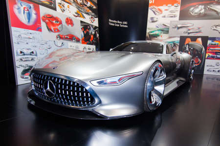 FRANKFURT, GERMANY - SEPTEMBER 23, 2015: Frankfurt international motor show (IAA) 2015. Mercedes-AMG Vision Gran Turismo Editorial