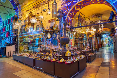 ISTANBUL, TURKEY -JULY 10 2017: Grand Bazaar, considered to be the oldest shopping mall in history 報道画像