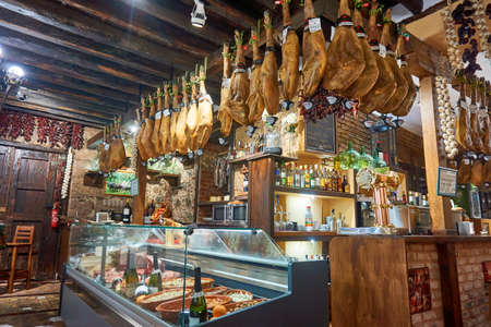 Santa Cruz de Tenerife,Spain-January 2017:Meat Products For Sale In Tenerife Market, Spain