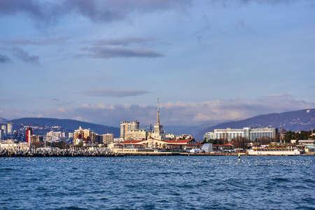 SOCHI, RUSSIA - Sea Port of Sochi