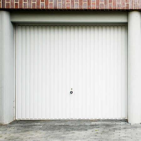 Garage Door. the facade of the garage doors