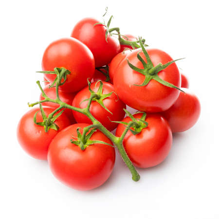tomato isolated on white background.  Bunch of fresh tomatoes