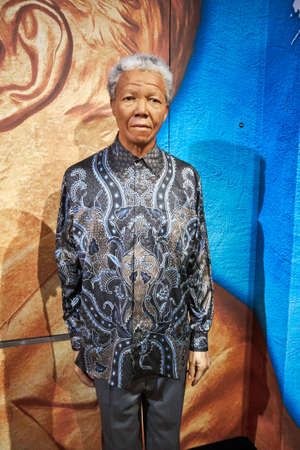 Amsterdam, Netherlands - September 05, 2017: Nelson Mandela model at the Amsterdam Madame Tussauds wax museum