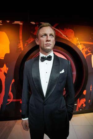 craig: Amsterdam, Netherlands - September 05, 2017: Wax figure of Daniel Craig as James Bond 007 agent in Madame Tussauds Wax museum in Amsterdam Editorial