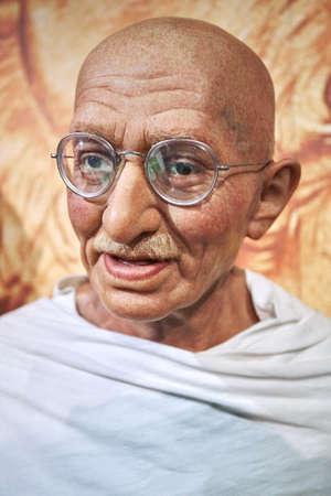 Amsterdam, Netherlands - September 05, 2017: Mahatma Ghandi Madame Tussauds wax museum in Amsterdam