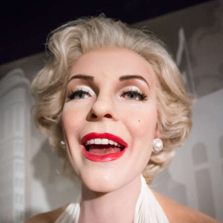 Amsterdam, Netherlands - September 05, 2017: Wax figure of Marilyn Monroe, american actress and model in Madame Tussauds Wax museum in Amsterdam, Netherlands