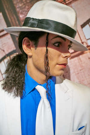 Amsterdam, Netherlands - September 05, 2017:Wax figure of Michael Jackson in Madame Tussauds Wax museum in Amsterdam
