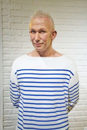 Amsterdam, Netherlands - September 05, 2017:Jean Paul Gaultier, Madame Tussauds wax museum in Amsterdam Editorial