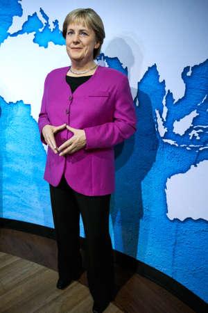 Amsterdam, Netherlands - September 05, 2017:  Angela Merkel, German cancelloe, Madame Tussauds wax museum in Amsterdam Editorial
