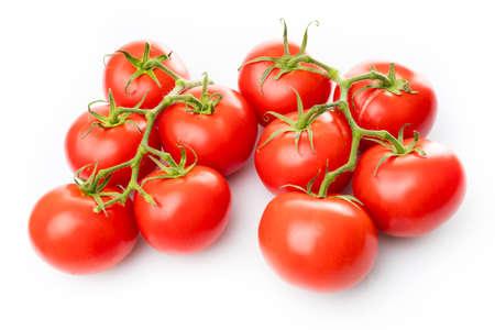 Fresh tomatoes on white background Stock Photo
