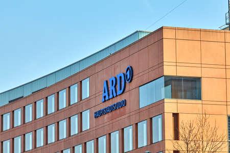 BERLIN, GERMANY - MARCH 19, 2015: logo German television station ARD