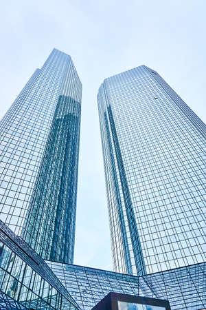 FRANKFURT, GERMANY OKTOBER 23, 2015: Deutsche Bank headquarter building in the city of Frankfurt Main