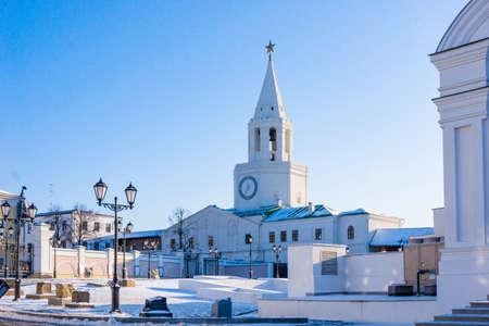 The Kul Sharif mosque in Kazan Kremlin. Tatarstan, Russia Stock Photo