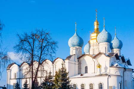 Cathedral of the Annunciation in Kazan Kremlin, Tatarstan, Russia 免版税图像