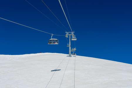 Sochi, Russia - May 05, 2017: Ski lift in Rosa Khutor Alpine Resort in Sochi Editorial