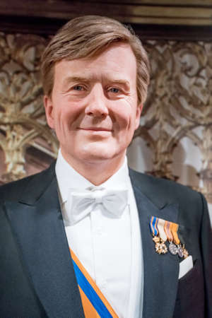 Amsterdam, Netherlands - September 05, 2017:  Prince of the Netherlands, Section of the Dutch Royal family, Madame Tussauds wax museum in Amsterdam Editorial