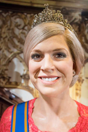 Amsterdam, Netherlands - September 05, 2017:  Princess of the Netherlands, Section of the Dutch Royal family, Madame Tussauds wax museum in Amsterdam