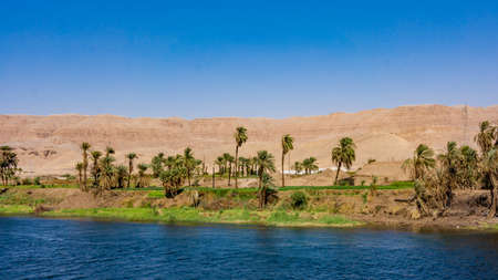 River Nile in Egypt. Life on the River Nile 스톡 콘텐츠