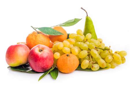Fresh fruits. exotic fruits isolated on white