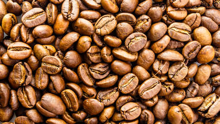 Coffee beans texture. coffee background Banco de Imagens