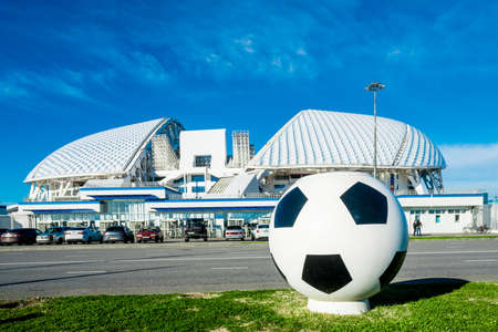 SOCHI, RUSSIA - DECEMBER 12, 2017: View of the stadium Fisht in the Olympic Park Editorial