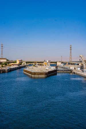 Esna dam on the Nile River, Egypt
