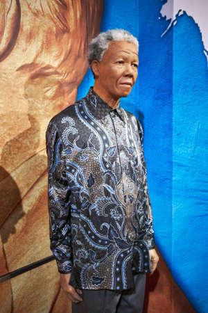 Amsterdam, Netherlands - September 05, 2017: Nelson Mandela model at the Amsterdam Madame Tussauds wax museum