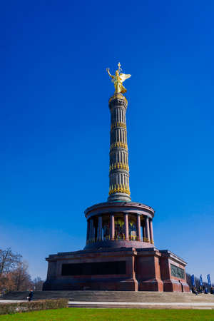 Victory monument (Siegessauele) in Berlin Editorial
