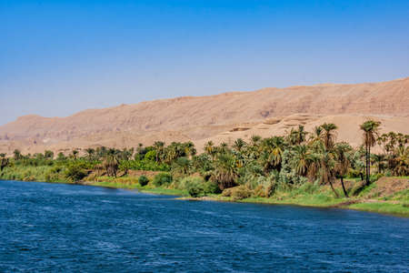 River Nile in Egypt. Life on the River Nile 版權商用圖片