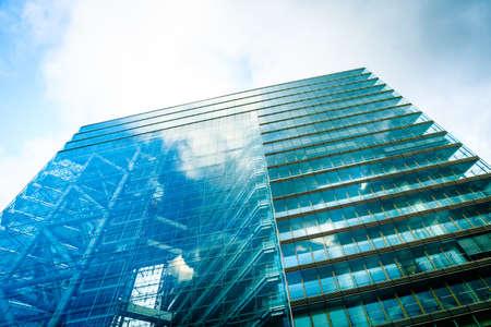 Windows of Skyscraper. Business building. Exterior of building Foto de archivo