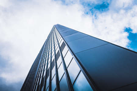 Office buildings. Abstract fragment of modern