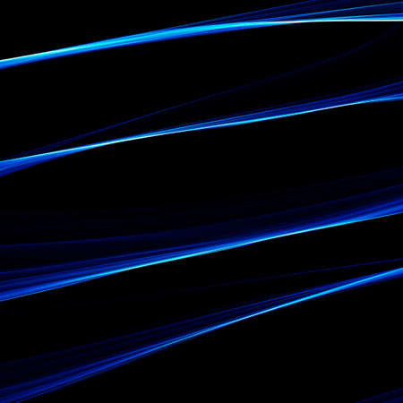Abstract wavy background. Abstract Light blue wave on black background  Stock Photo