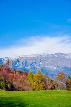 Beautiful landscape in the Swiss Alps Stok Fotoğraf