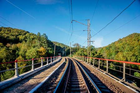 Railroad tracks. Railway tracks