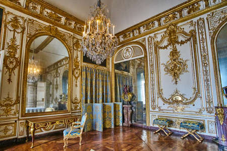 VERSAILLES, FRANCE - FEBRUARY 14, 2018: Interior of Chateau de Versailles (Palace of Versailles) near Paris.