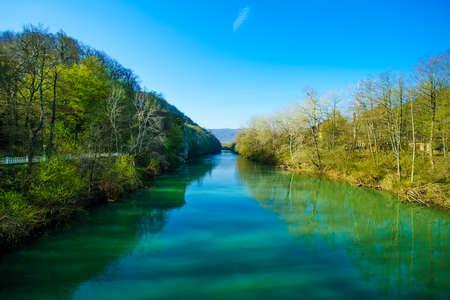Petushok on riverside of river Psekups in Goryachiy Kluch, Krasnodar region, Russia