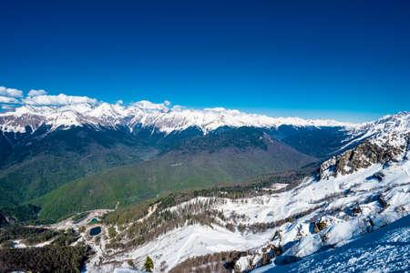 Caucasus mountains. Krasnaya Polyana, Sochi National Park, Russia. Stock Photo