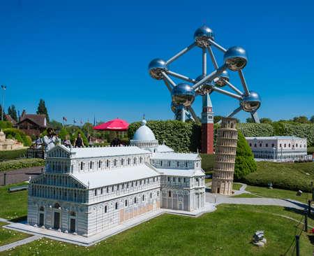 BRUSSELS, BELGIUM - 05 MAY 2018: Mini Europe is a miniature models of Europe s famous landmarks Sajtókép