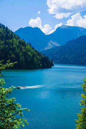 nature landscape view of lake Ritsa, Abkhazia