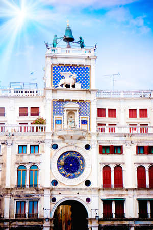 Zodiac Clock, Saint Marks Square, Venice, Italy Stock Photo