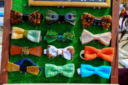 colorful butterflies Tie.  bow-ties Stock Photo