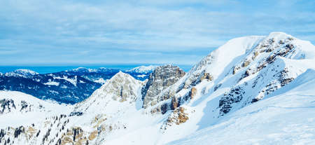 Beautiful top view of mountains Archivio Fotografico