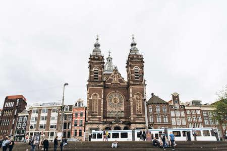 Amsterdam, Netherlands - September 5, 2017: Basilica of St. Nicholas