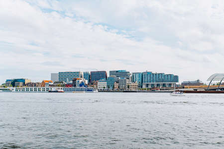 Panoramic view of Amsterdam from the boat