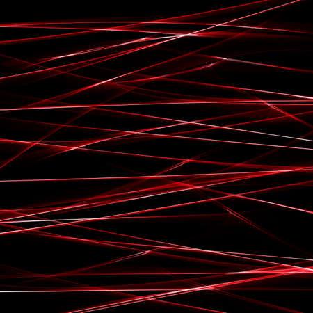 Elemento de diseño de onda roja en la oscuridad. Foto de archivo