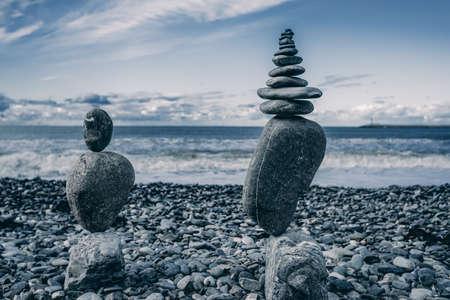 Stones balance. Well-balanced of pebbles